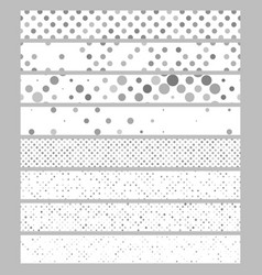 Abstract circle pattern web banner background set vector