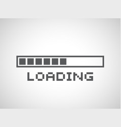 abstract composition loading bar element icon vector image