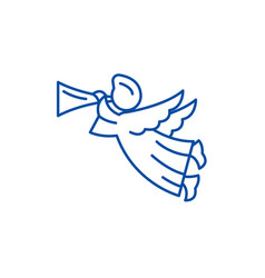 angel line icon concept angel flat symbol vector image