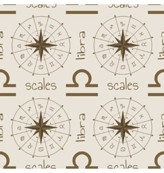 Astrology sign Scales Seamless pattern vector