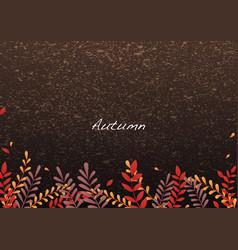 autumn fern leaves border background vector image