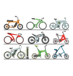 bicycle modern e-bike design bikers cycle vector image