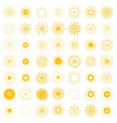 Big set of retro sun burst shapes 49 vintage logo vector