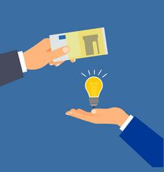 Buy euro money idea business concept vector