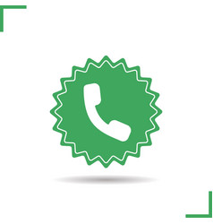 Call us now sticker vector