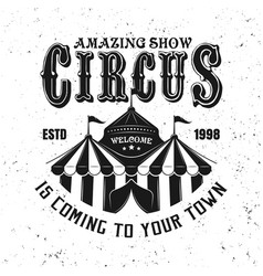circus tent or marquee black vintage emblem vector image