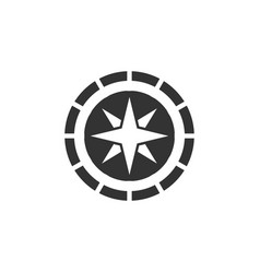 compass icon design template isolated vector image