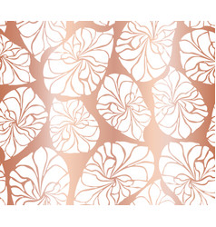 copper mosaic leaves seamless background vector image