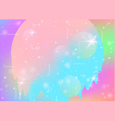 Cosmos background with abstract holographic vector