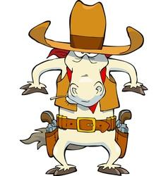 cowboy horse vector image