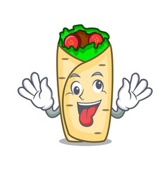 Crazy burrito mascot cartoon style vector
