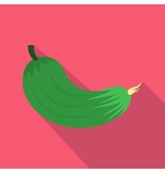 Cucumber icon in flat style vector image