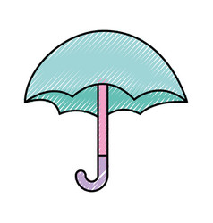 Cute umbrella isolated icon vector