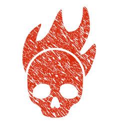 Death fire icon grunge watermark vector