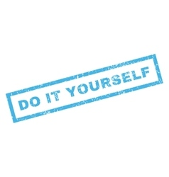 Do It Yourself Rubber Stamp vector