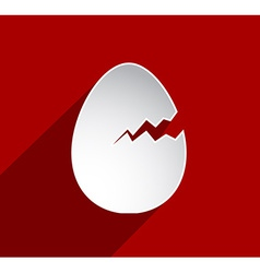 Easter cracked egg vector image
