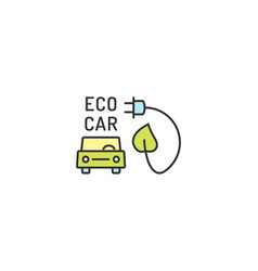 electric eco car conceptual icon vector image