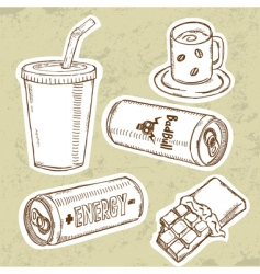 energy drink V vector image vector image