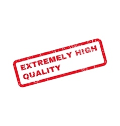 Extremely high quality text rubber stamp vector