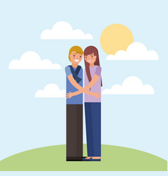 family couple card vector image