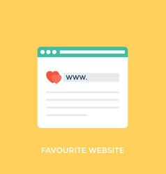Favorit website vector