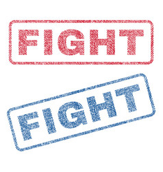 Fight textile stamps vector