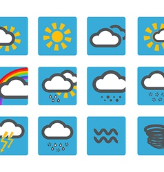 Forecast weather icons set vector image