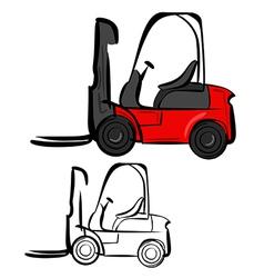 Forklifts vector image