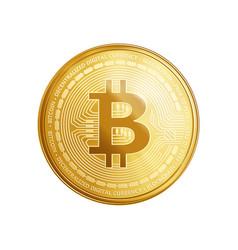 golden bitcoin coin symbol vector image