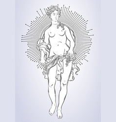greek goddess the mythological heroine of ancient vector image
