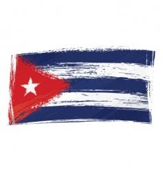 grunge Cuba flag vector image