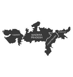 Gujarat - madhya pradesh - chhattisgarh vector