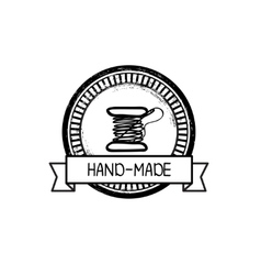 Hand-drawn retro hand-made badge vector image vector image