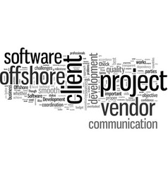 How to succeed in offshore software vector