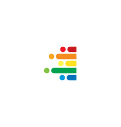 i colorful letter speed pixel logo icon design vector image