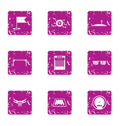 latest technology icons set grunge style vector image