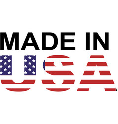 made in usa logo vector image