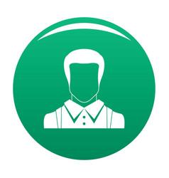 man avatar icon green vector image