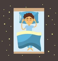 Man sleeping and taking good night vector