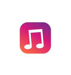 Music icon for apps and web vector