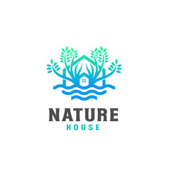 nature house logo design template - good to use vector image