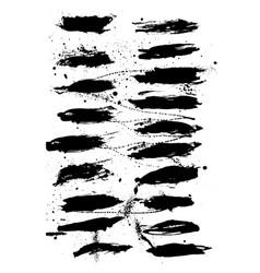 Nice black ink splashes vector