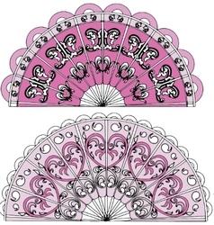 Ornament fan vector