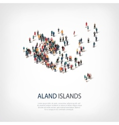 People map country Aland Islands vector