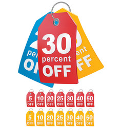 Percent off shopping tag vector