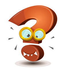 question mark character vector image