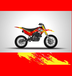 Racing motorcycle wrap decal and vinyl sticker vector