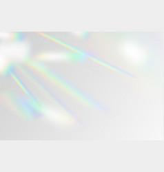 rainbow flare overlay vector image