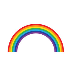 rainbow isolated on white background icon flat vector image