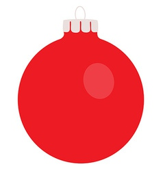 Red christams ball vector